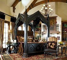 Decorating theme bedrooms - Maries Manor: Gothic style bedroom ...