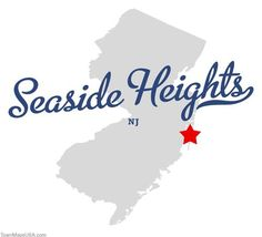 Map of Seaside Heights New Jersey NJ