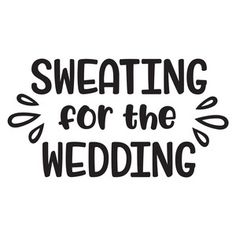 Silhouette Design Store: sweating for the wedding