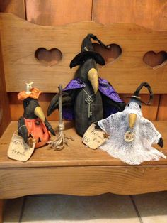 Primitive Trick Or Treaters Dolls #NaivePrimitive