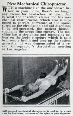 New Mechanical Chiropractor is every bit as effective as a human chiropractor...