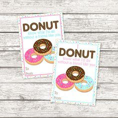 Get these Free Printable School Valentine Cards for your child's classmates this year. They include cute and clever donut and fruit Valentine's Day cards.