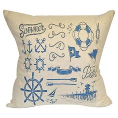 Summer Pier Pillow