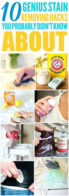 These 10 easy laundry hacks are THE BEST! I'm so glad I found these GREAT tips! Now I have some great ways to get rid of stains! Definitely pinning!
