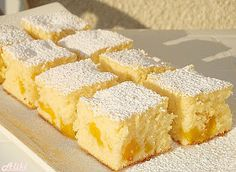 Canned Peaches Fanta Cake Greek Sweets, Greek Desserts, Greek Recipes, Baking Recipes, Cake Recipes, Dessert Recipes, Kolaci I Torte, Croatian Recipes, Christmas Desserts