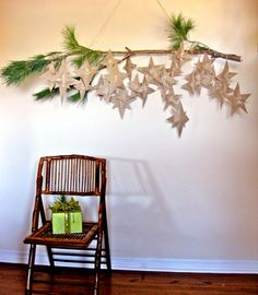 Hang scripture relating to advent or art shots from video