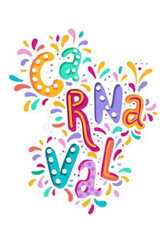 Hand Drawn Vector Carnaval Lettering With Flashes Of Firework, Colorful Confetti. Festive Title, Headline Banner Stock Illustration - Illustration of color, latin: 137838243 Don Du Sang, Birthday Display, Santa Claus Christmas Tree, Carnival Festival, Bullet Journal Writing, Carnival Birthday Parties, Banner Vector, Free Vector Art, Mardi Gras