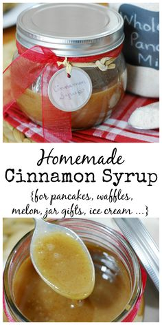 Homemade Cinnamon Syrup ~ easy, delicious, and oh-so-versatile. www.thekitchenismyplayground.com
