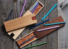 Adult Wooden Pencil Cases : wooden pencil