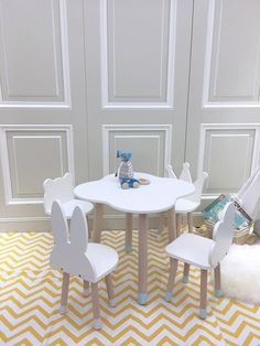 FUN Wooden Kids Table and Chairs Set Related posts: Simple Kid's Table and Chair Set – 17 Awesome Tips for Making a Kids Table and Chairs DIY Table and Chairs Set Convertible DIY Toddler Table and Chair Set