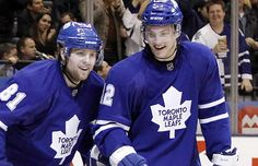 Tyler Bozak and Phil Kessel Toronto Maple Leafs cuties Phil Kessel, Hockey Games, Toronto Maple Leafs, My Boys, Nhl, Cute Pictures, Champion, Blue And White, Leaves