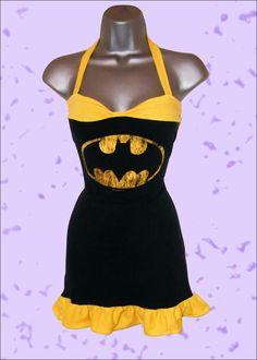 Batman T Shirt Dress Up-Cycle by Lolanova.deviantart.com on @deviantART