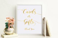 Printable Card and Gifts Wedding Sign Wedding Gift by X3designs