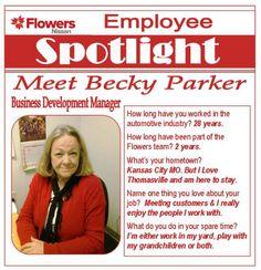 #EmployeeSpotlight Meet Becky Parker Business Development Manager For  Flowers Automotive Group.