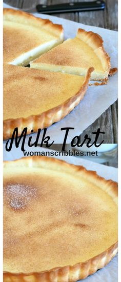 This milk tart is a delicious dessert that hits just the right spot of sweetness, richness and creaminess with it's simple milk custard filling.