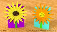 Kaart met bloem van papier - Knutsels Voor Kinderen - Leuke Ideeën om te Knutselen met Duidelijke Uitleg