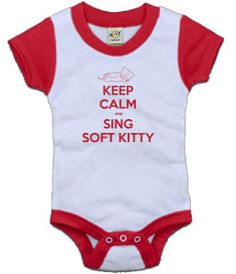 Keep Calm and Sing Soft Kitty Baby Onsie