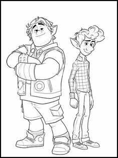 Onward 11 Printable coloring pages for kids