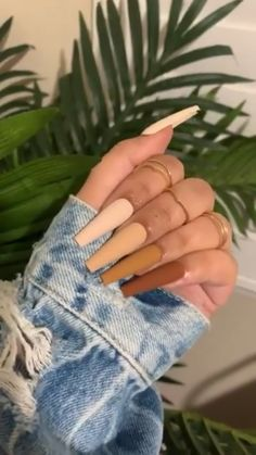 Bling Acrylic Nails, Acrylic Nail Set, Cute Acrylic Nail Designs, French Acrylic Nails, Almond Acrylic Nails, Aycrlic Nails, Chic Nails, Best Acrylic Nails, Gradient Nails