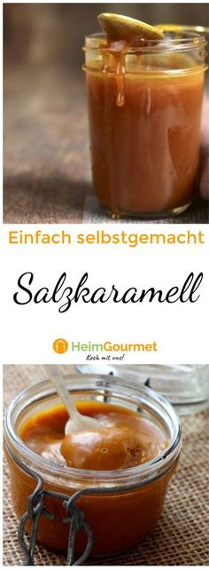 Super simple, but incredibly tasty: salted caramel itself-Super simpel, aber unglaublich lecker: Salzkaramell selber machen! Super simple, but incredibly tasty: make salted caramel yourself! Caramel Deserts, Salted Caramel Cupcakes, Caramel Recipes, Super Simple, Macaron Cookies, No Salt Recipes, Vegetarian Appetizers, Sweet Sauce, Le Diner