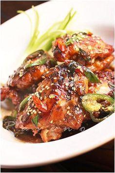 Caramelized Chicken with Brown Sugar, Garlic,  Jalapeño Yum