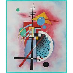 Kandinsky 'Hommage a Grohmann' Hand-painted Framed Canvas Art