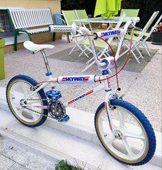 Bmx Bicycle, Bmx Bikes, Cool Bikes, Skyway Bmx, Bmx Freestyle, Old School, 1980s, Attitude, Wheels