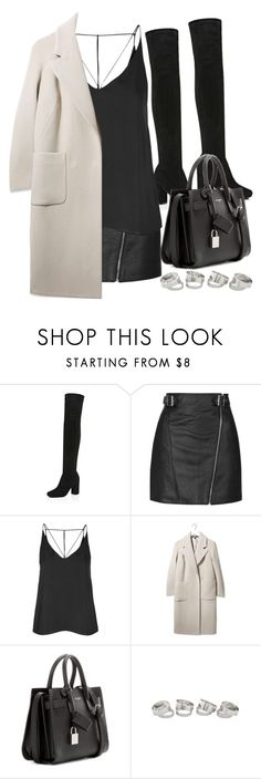 """""""Style #11424"""" by vany-alvarado ❤ liked on Polyvore featuring River Island, Topshop, Boutique and Yves Saint Laurent"""