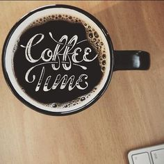 Coffee time, hand drawn typography | Sean Tulgetske - I love the seamless mix of photography and hand made type