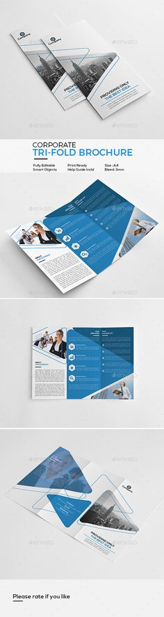 Corporate Tri-Fold Brochure - Corporate Brochures Download here: https://graphicriver.net/item/corporate-trifold-brochure/20172520?ref=classicdesignp