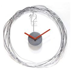 """Wire Transfer 14"""" Round Metal Wire Wall Clock"""