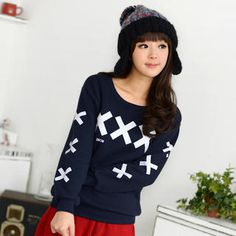 """Buy '59 Seconds – """"X"""" Print Pullover' with Free International Shipping at YesStyle.com. Browse and shop for thousands of Asian fashion items from Hong Kong and more!"""