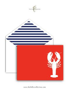 Lobster Fold Over Note Cards – The Fuller Collection