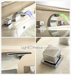 Sprinkle® by lightinthebox - cambio de color llevado cascada generalizada grifo del fregadero cuarto de baño (cromado) - USD $ 87.36 | LightInTheBox