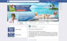 A Fan page design that we created for Irene Grogan.
