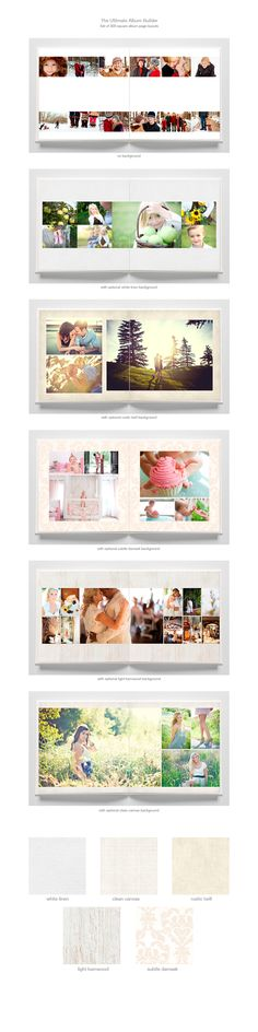 album builder templates via designaglow.com