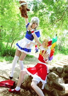 Touhou Project cosplayers...guess which one is the bad apple?
