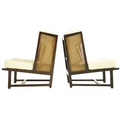 Pair of Dunbar Wingback Lounge Chairs   From a unique collection of antique and modern wingback chairs at https://www.1stdibs.com/furniture/seating/wingback-chairs/