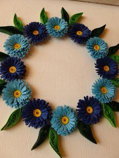 Kreatív hobby: quilling kék virágok (kép)