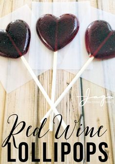 Candy Recipes Want to indulge your sweet tooth without the guilt (red wine is good for you right)? Whip up a batch of these Red Wine Lollipops. These adult treats make great party favors and fun DIY gift ideas. Candy Recipes, Wine Recipes, Cooking Recipes, Homemade Gifts, Diy Gifts, Party Gifts, Steak And Seafood, Pub, Snacks Für Party