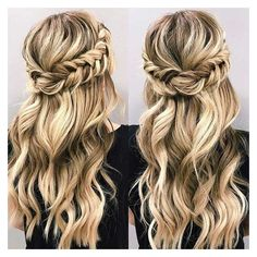 21 Beautiful Hair Style Ideas for Prom Night ❤ liked on Polyvore featuring beauty products, haircare, hair styling tools, hair, hairstyles, beauty and hair styles