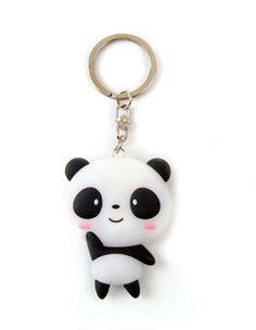 Silicone Cute Panda Cartoon Keychain Bag Pendant Key Ring Kawaii Gift Present