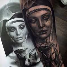 awesome Top 100 tattoo from tattoo art magazine | This amazing #blackandgrey #nun & #rose #portrait #tattoo is by @pxabodyart -- very nice work Pedro! -- ARTISTS: tag & # us to share your work with #tattooartistmagazine Check more at http://4develop.com.ua/top-100-tattoo-tattoo-art-magazine/
