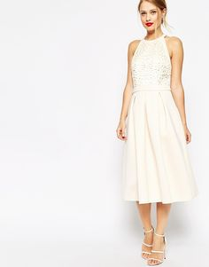 ASOS Cutwork Midi Skater Dress at ASOS - Apparel