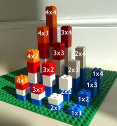 There are various ways to make a Multiplication Tower. This site shows examples using beads, Legos, and Minecraft!