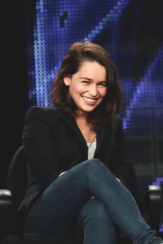Emilia Clarke is so freaking adorable, I want to just carry her around in my pocket and show her off.