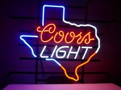 Coors Light Texas State Classic Neon Light Sign 17 x 14
