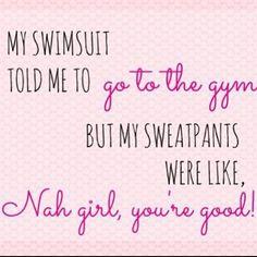 Swim suit vs. sweatpants... I understand this debacle.
