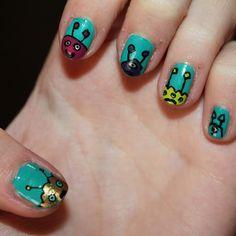 Cute Alien Nails