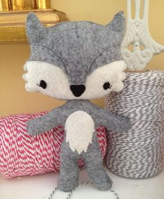 Will the Wolf felt softie by CheekadeeHandmade on Etsy. , via Etsy.